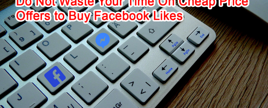 Do Not Waste Your Time On Cheap Price Offers to Buy Facebook Likes