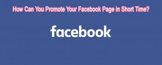 How Can You Promote Your Facebook Page in Short Time?